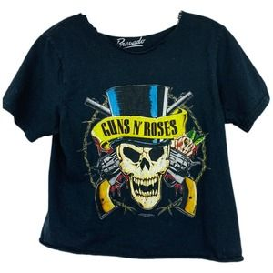 3/20 Bravado Guns 'N Roses Graphic Tee Crop Top
